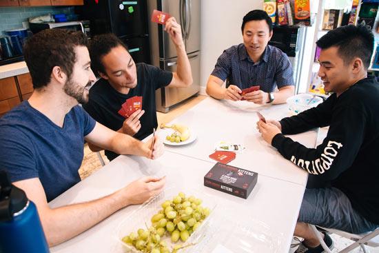 Codesmith students play card games
